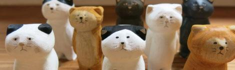 キタカゼパンチ木彫り人形