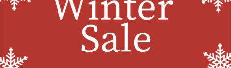 WINTER SALE & 年末年始の営業について